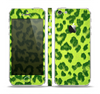 The Vibrant Green Cheetah Skin Set for the Apple iPhone 5