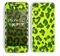 The Vibrant Green Cheetah Skin for the Apple iPhone 5c