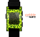 The Vibrant Green Cheetah Skin for the Pebble SmartWatch