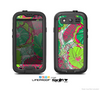 The Vibrant Green & Coral Floral Sketched Skin For The Samsung Galaxy S3 LifeProof Case