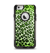 The Vibrant Green Leopard Print Apple iPhone 6 Otterbox Commuter Case Skin Set