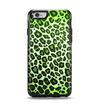 The Vibrant Green Leopard Print Apple iPhone 6 Otterbox Symmetry Case Skin Set