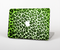 "The Vibrant Green Leopard Print Skin Set for the Apple MacBook Pro 15"" with Retina Display"