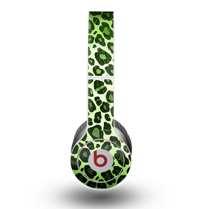 The Vibrant Green Leopard Print Skin for the Beats by Dre Original Solo-Solo HD Headphones