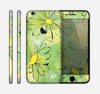 The Vibrant Green Outlined Floral Skin for the Apple iPhone 6