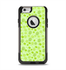 The Vibrant Green Paw Prints Apple iPhone 6 Otterbox Commuter Case Skin Set