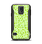 The Vibrant Green Paw Prints Samsung Galaxy S5 Otterbox Commuter Case Skin Set