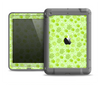The Vibrant Green Paw Prints Apple iPad Air LifeProof Fre Case Skin Set