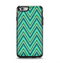 The Vibrant Green Sharp Chevron Pattern Apple iPhone 6 Otterbox Symmetry Case Skin Set