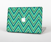 The Vibrant Green Sharp Chevron Pattern Skin Set for the Apple MacBook Air 13""