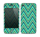 The Vibrant Green Sharp Chevron Pattern Skin for the Apple iPhone 4-4s
