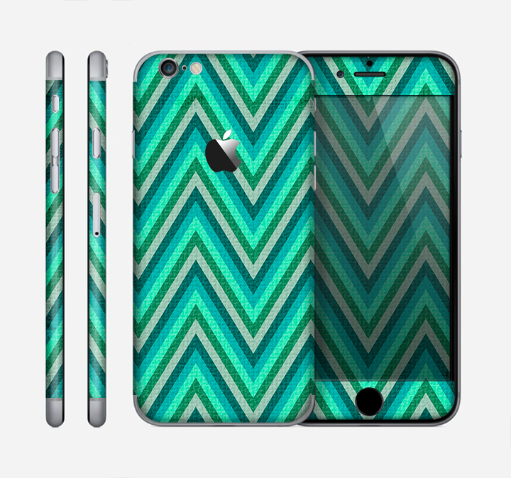 The Vibrant Green Sharp Chevron Pattern Skin for the Apple iPhone 6
