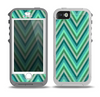 The Vibrant Green Sharp Chevron Pattern Skin for the iPhone 5-5s OtterBox Preserver WaterProof Case