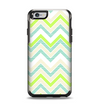 The Vibrant Green Vintage Chevron Pattern Apple iPhone 6 Otterbox Symmetry Case Skin Set