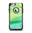 The Vibrant Green Watercolor Panel Apple iPhone 6 Otterbox Commuter Case Skin Set