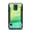 The Vibrant Green Watercolor Panel Samsung Galaxy S5 Otterbox Commuter Case Skin Set