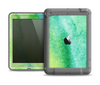 The Vibrant Green Watercolor Panel Apple iPad Air LifeProof Fre Case Skin Set