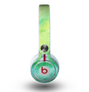 The Vibrant Green Watercolor Panel Skin for the Beats by Dre Mixr Headphones