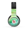 The Vibrant Green Watercolor Panel Skin for the Beats by Dre Pro Headphones