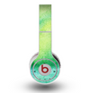 The Vibrant Green Watercolor Panel Skin for the Original Beats by Dre Wireless Headphones