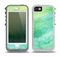 The Vibrant Green Watercolor Panel Skin for the iPhone 5-5s OtterBox Preserver WaterProof Case