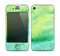 The Vibrant Green Watercolor Panel copy Skin for the Apple iPhone 4-4s