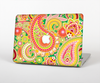 The Vibrant Green and Pink Paisley Pattern Skin Set for the Apple MacBook Air 13""