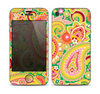 The Vibrant Green and Pink Paisley Pattern Skin for the Apple iPhone 4-4s