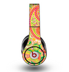 The Vibrant Green and Pink Paisley Pattern Skin for the Original Beats by Dre Studio Headphones