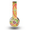 The Vibrant Green and Pink Paisley Pattern Skin for the Original Beats by Dre Wireless Headphones
