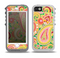 The Vibrant Green and Pink Paisley Pattern Skin for the iPhone 5-5s OtterBox Preserver WaterProof Case