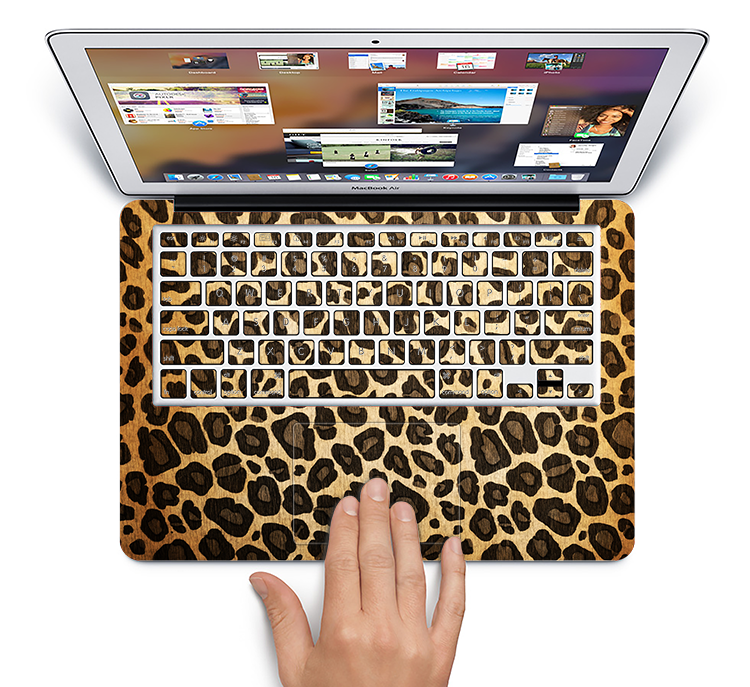 "The Vibrant Leopard Print V23 Skin Set for the Apple MacBook Pro 15"" with Retina Display"