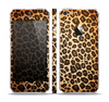 The Vibrant Leopard Print V23 Skin Set for the Apple iPhone 5