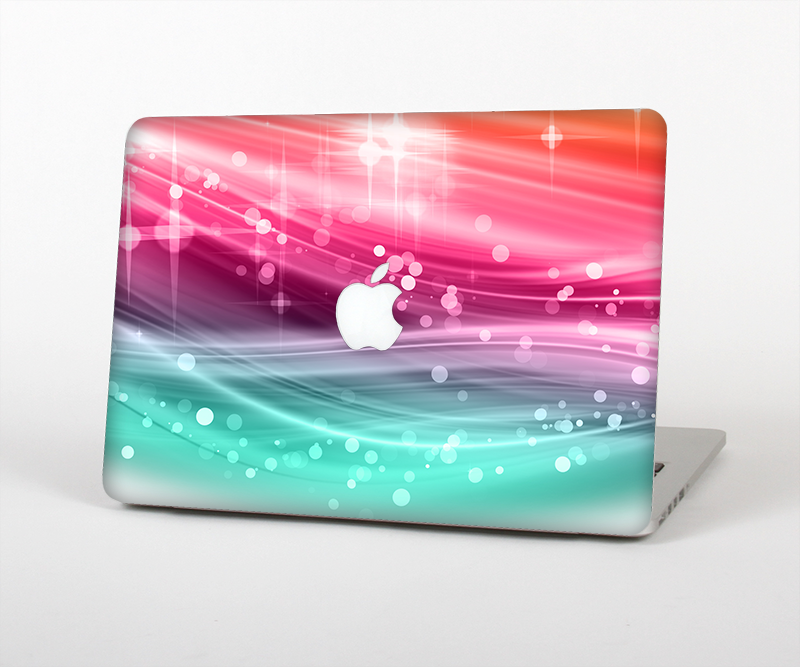 "The Vibrant Multicolored Abstract Swirls Skin Set for the Apple MacBook Pro 15"" with Retina Display"