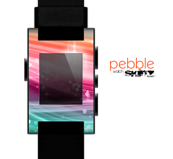 The Vibrant Multicolored Abstract Swirls Skin for the Pebble SmartWatch