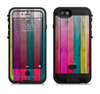 the vibrant neon colored wood strips  iPhone 6/6s Plus LifeProof Fre POWER Case Skin Kit