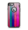The Vibrant Neon Colored Wood Strips Apple iPhone 6 Otterbox Defender Case Skin Set
