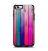 The Vibrant Neon Colored Wood Strips Apple iPhone 6 Otterbox Symmetry Case Skin Set