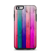 The Vibrant Neon Colored Wood Strips Apple iPhone 6 Plus Otterbox Symmetry Case Skin Set
