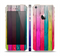 The Vibrant Neon Colored Wood Strips Skin Set for the Apple iPhone 5s