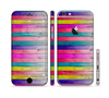 The Vibrant Neon Colored Wood Strips Sectioned Skin Series for the Apple iPhone 6 Plus