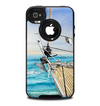 The Vector Navy Anchor with Blue Stripes Skin for the iPhone 4-4s OtterBox Commuter Case