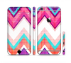 The Vibrant Pink & Blue Chevron Pattern Sectioned Skin Series for the Apple iPhone 6 Plus