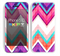 The Vibrant Pink & Blue Chevron Pattern Skin for the Apple iPhone 5c