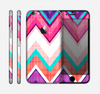 The Vibrant Pink & Blue Chevron Pattern Skin for the Apple iPhone 6