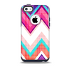 The Vibrant Pink & Blue Chevron Pattern Skin for the iPhone 5c OtterBox Commuter Case