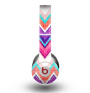 The Vibrant Pink & Blue Chevron Pattern copy Skin for the Beats by Dre Original Solo-Solo HD Headphones