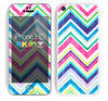 The Vibrant Pink & Blue Layered Chevron Pattern Skin for the Apple iPhone 5c