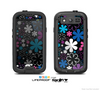 The Vibrant Pink & Blue Vector Floral Skin For The Samsung Galaxy S3 LifeProof Case