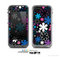 The Vibrant Pink & Blue Vector Floral Skin for the Apple iPhone 5c LifeProof Case
